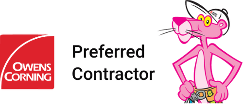 Owens Corning company logo and preferred contractor