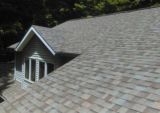 Two story house with brand new shingles
